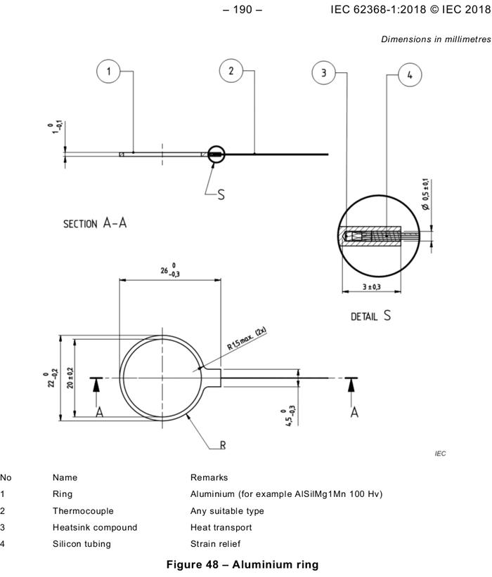 IEC 62368-1 图48 Aluminium Ring 铝环