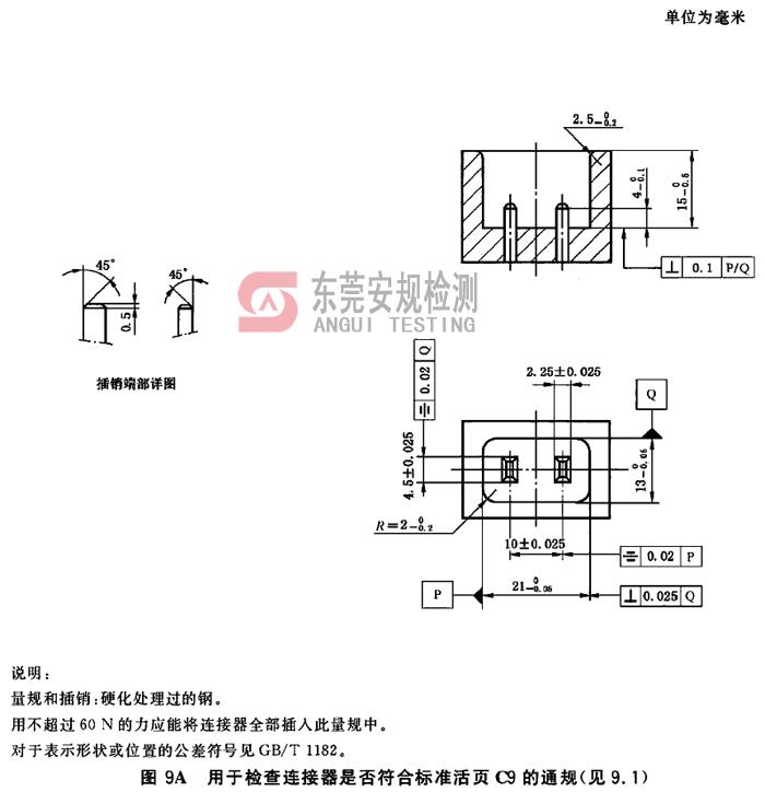 IEC60320耦合器量规图9A连接器C9通规
