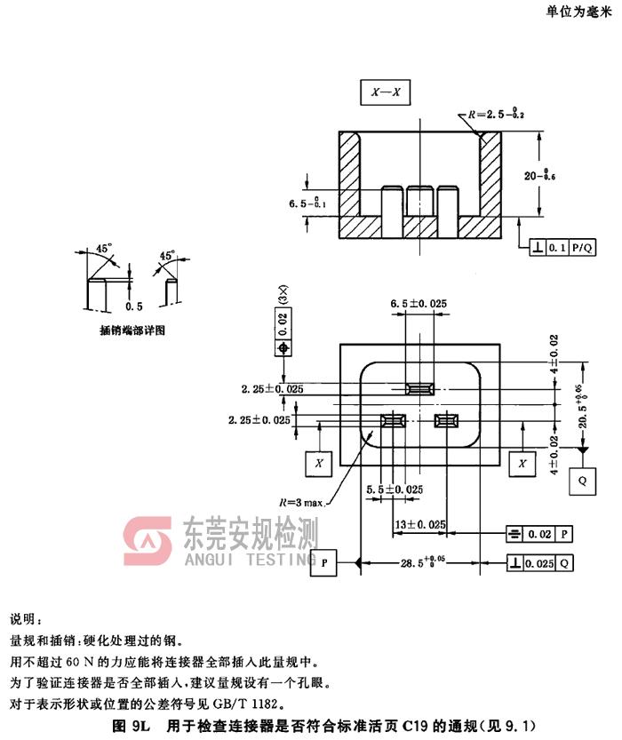 IEC60320耦合器量规C19连接器通规