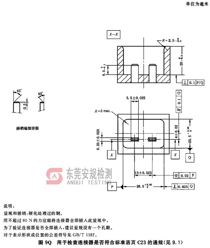 IEC60320耦合器量规图9Q连接器C23通规