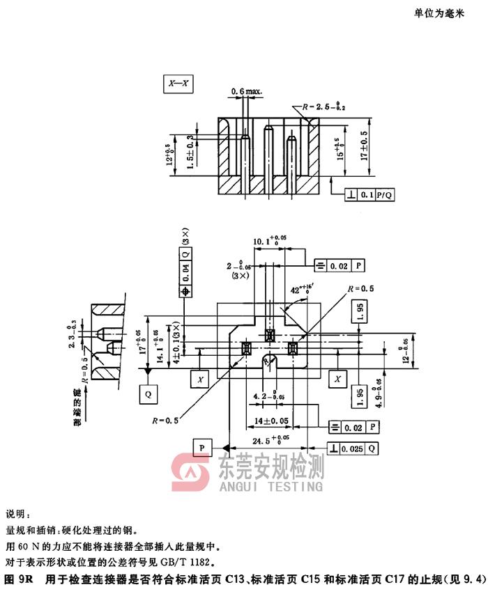 IEC60320耦合器量规图9R连接器C13C15C17