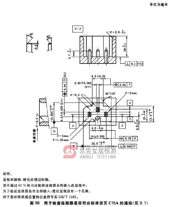 IEC60320耦合器量规图9S连接器C15A通规